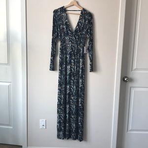 New Jessica Simpson Printed Maternity Maxi Dress